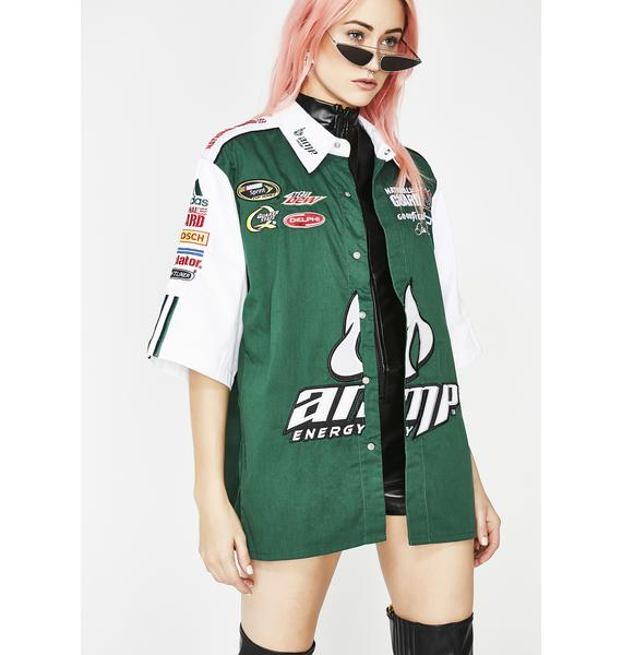 Dale Earnhardt Jr. AMP Embroidered NASCAR Pit Crew Shirt