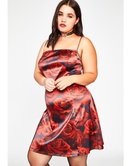 Found Somebudy To Luv Satin Dress