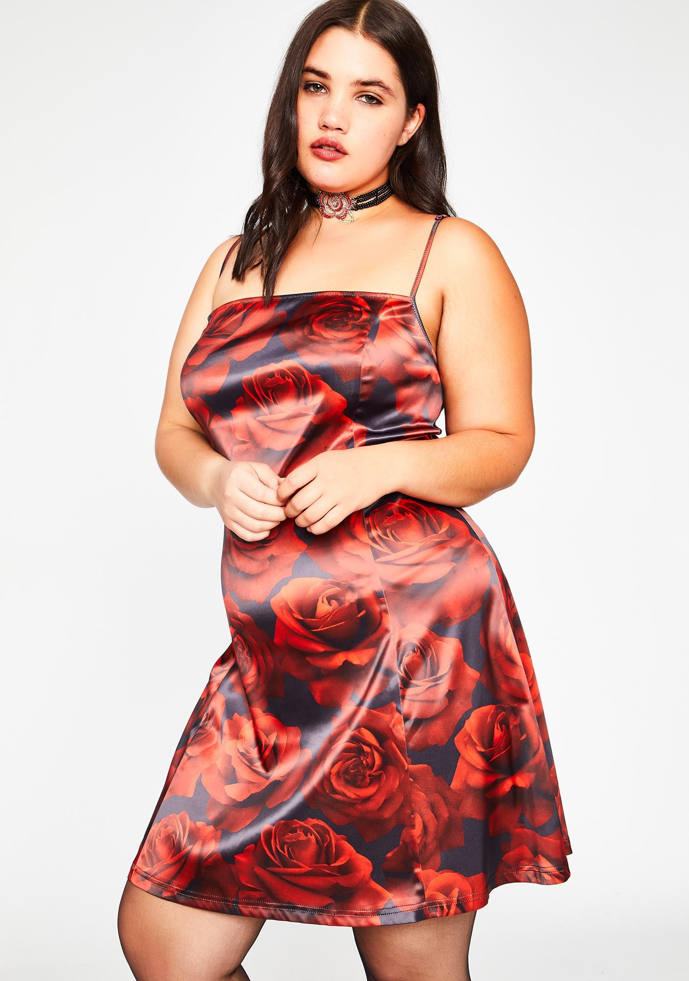 dELiA*s by Dolls Kill Found Somebudy To Luv Satin Dress