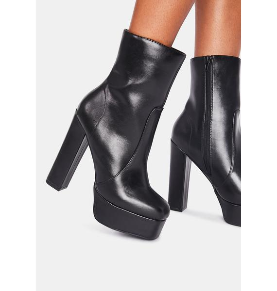Own The Stage Platform Booties