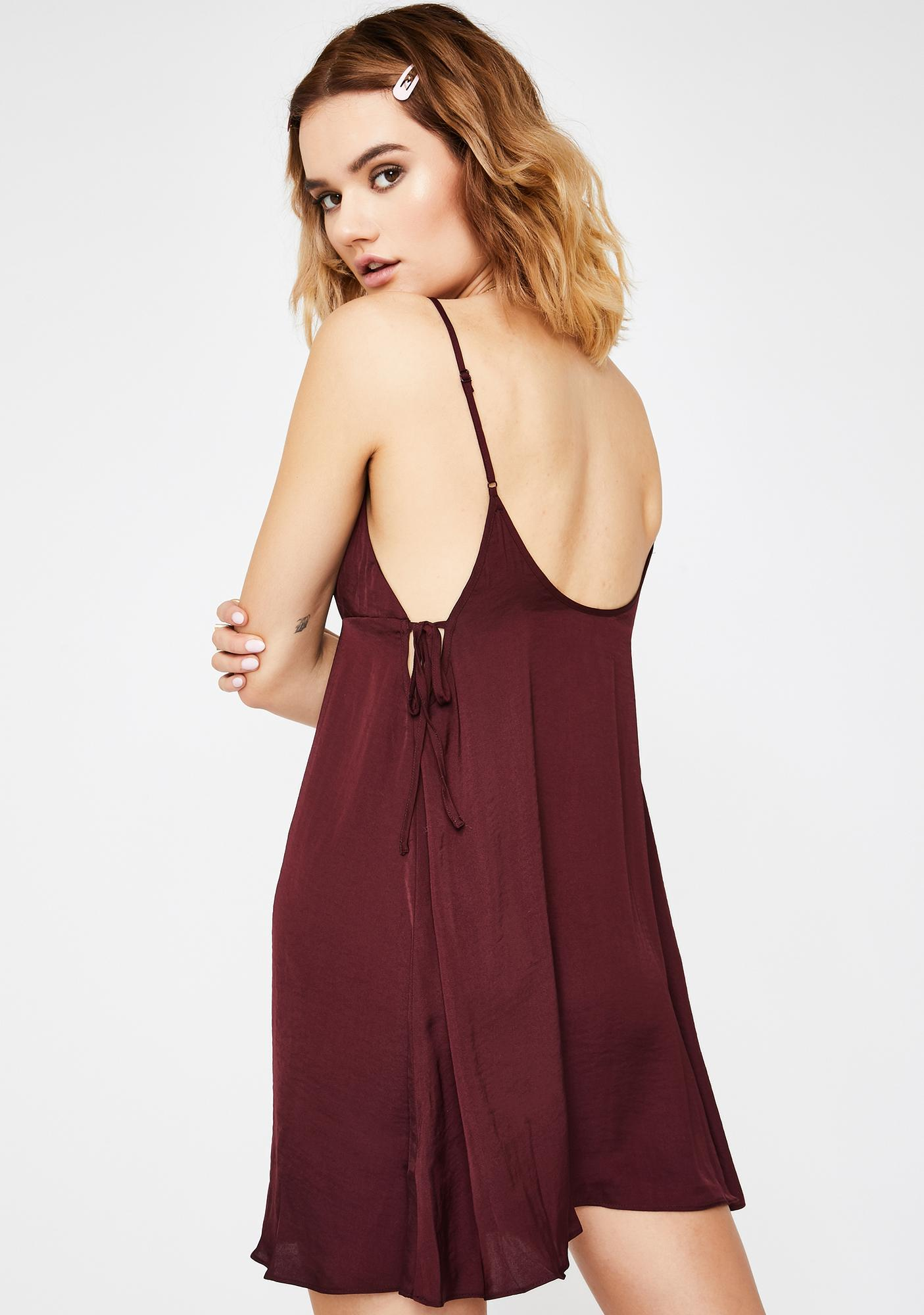 Free People Smooth Sailin' Mini Slip Dress