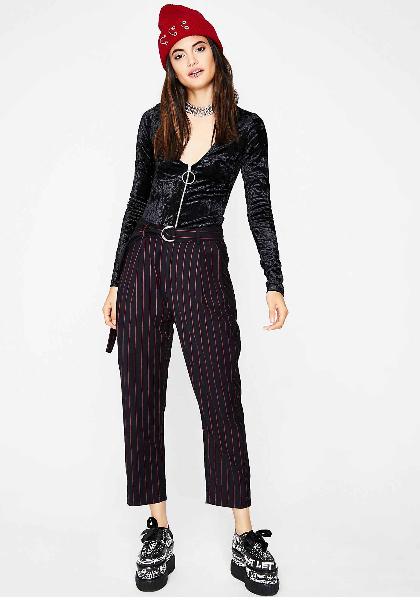 Dark Sweet Seduction Velvet Bodysuit