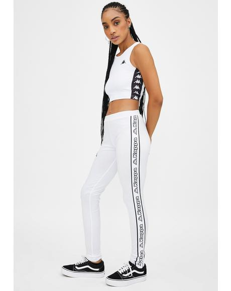 White Logo Tape Arivo Leggings