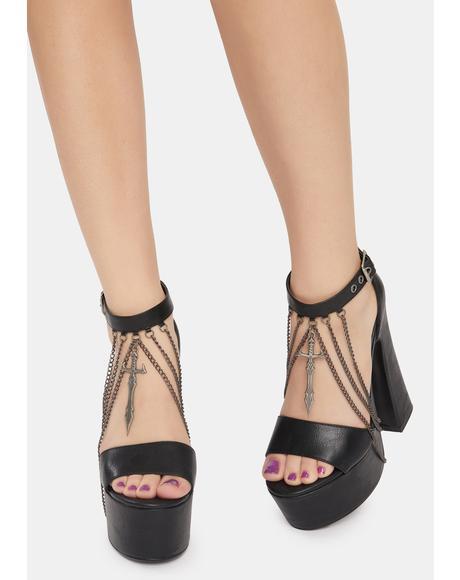 Warrior Spirt Platform Heels