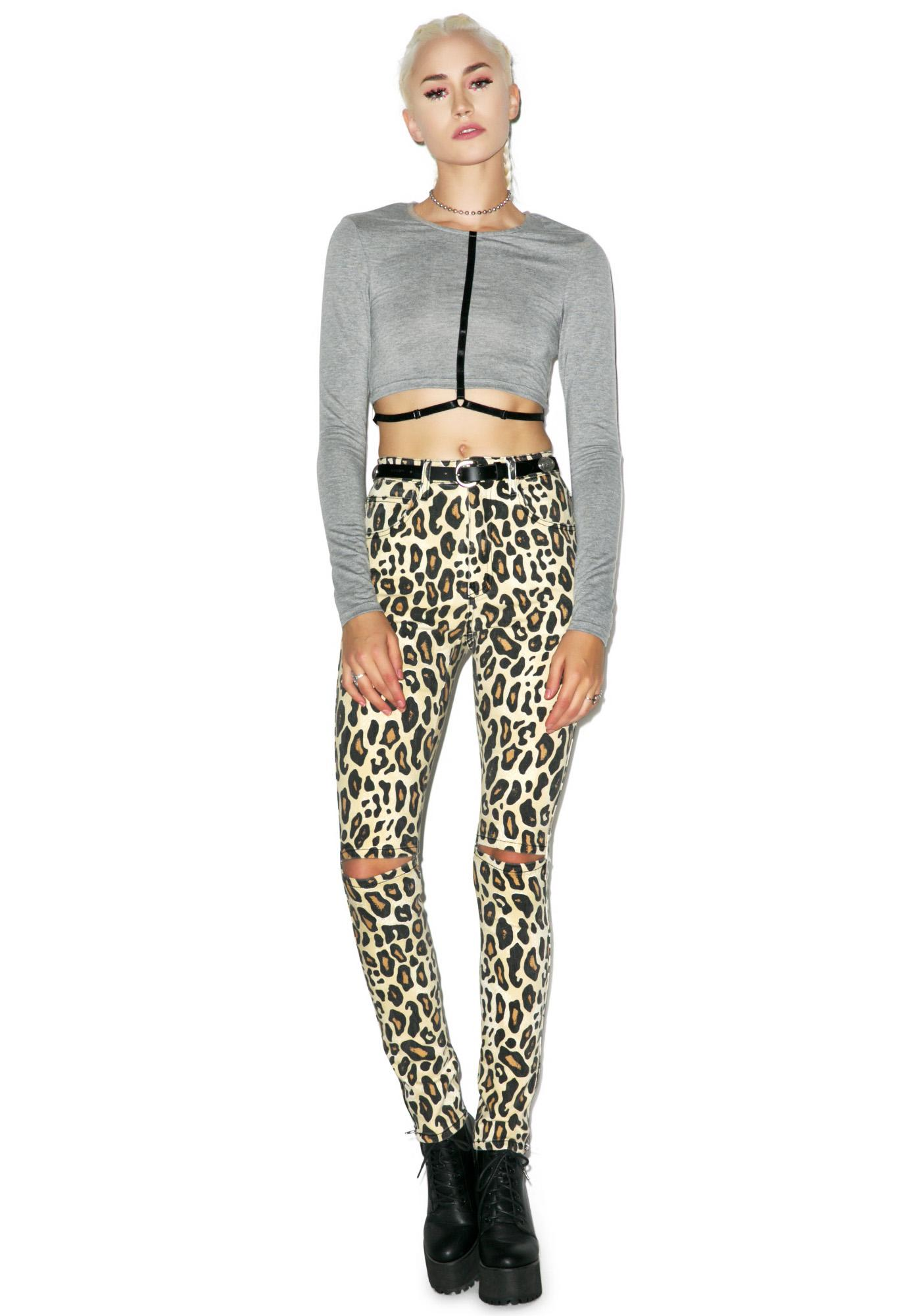 Evil Twin Strapped In Crop Top