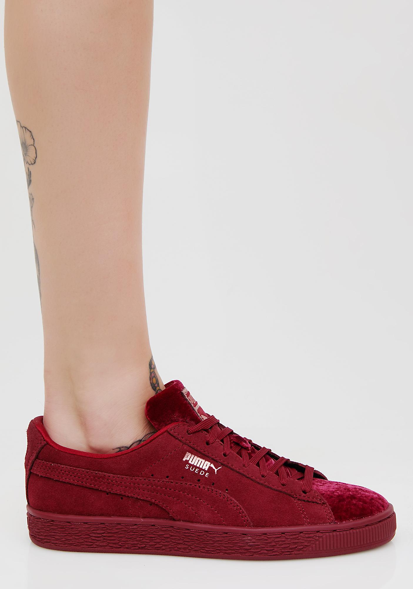 PUMA Suede Classic Velvet Sneakers