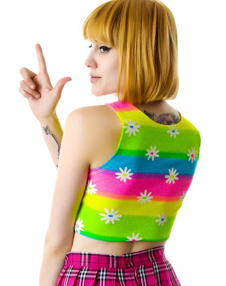 As If Daisy Crop Top