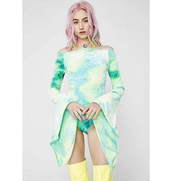 J Valentine Gypsy Long Sleeve Velvet Bodysuit