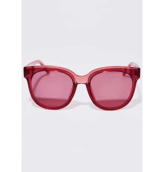 Wine Say What Cat Eye Sunglasses