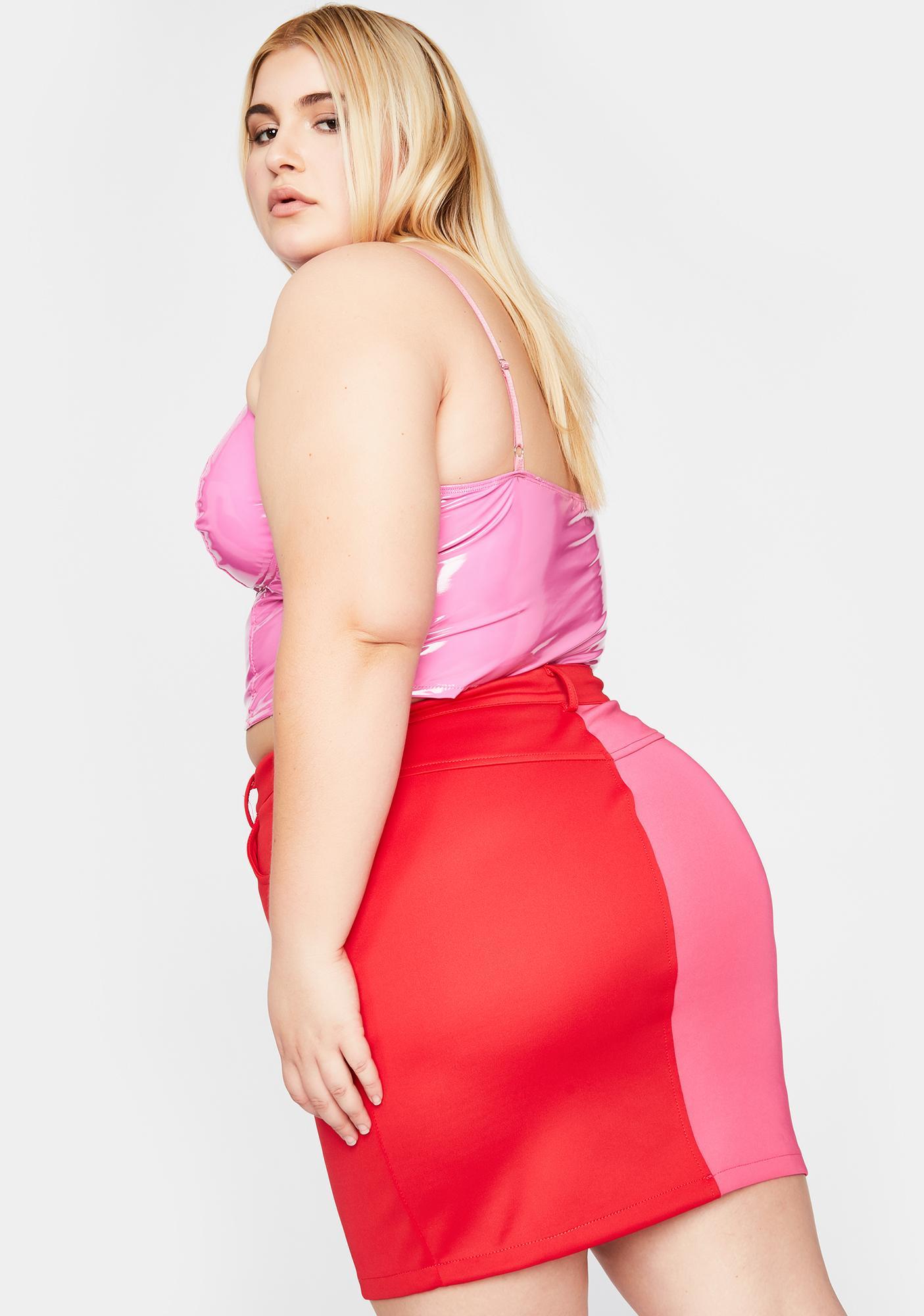 Hot Gotta Breakup To Makeup Colorblock Skirt