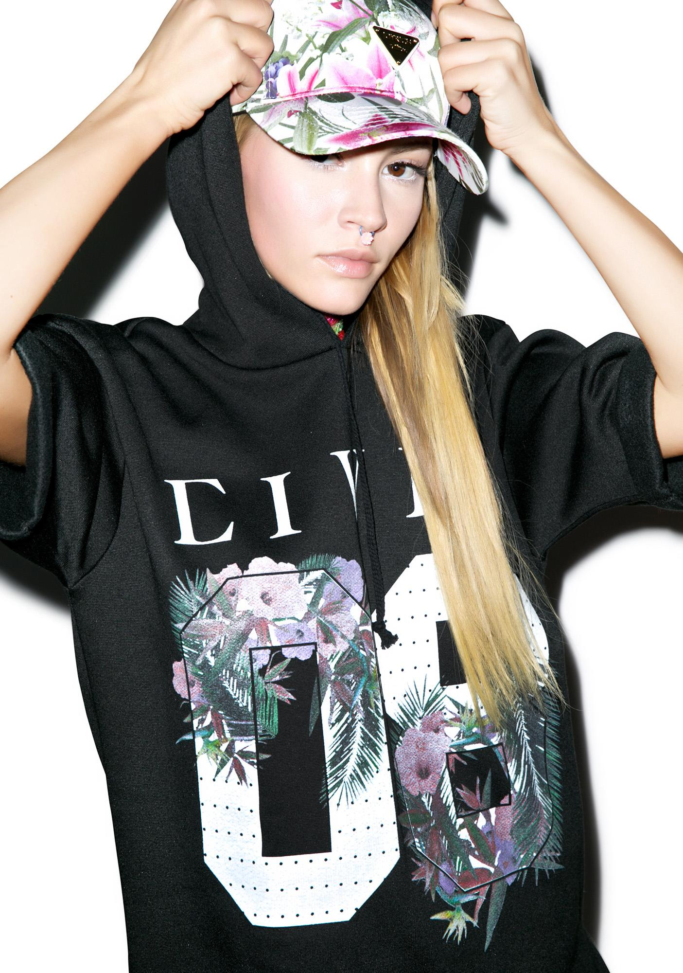 Civil Clothing Floral 08 Adrian Hoodie