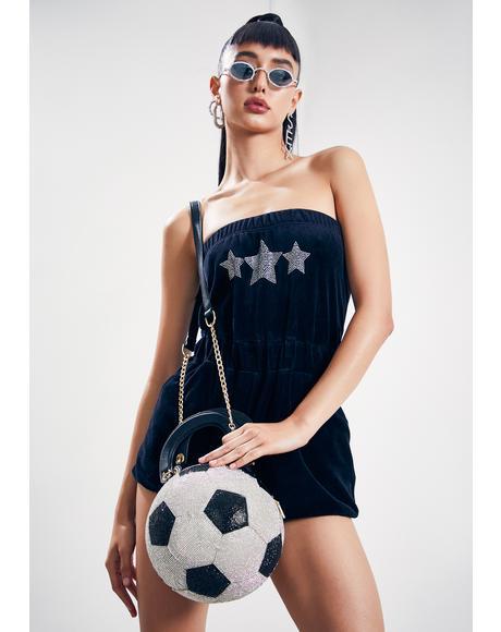 Nicola Rhinestone Soccerball Handbag