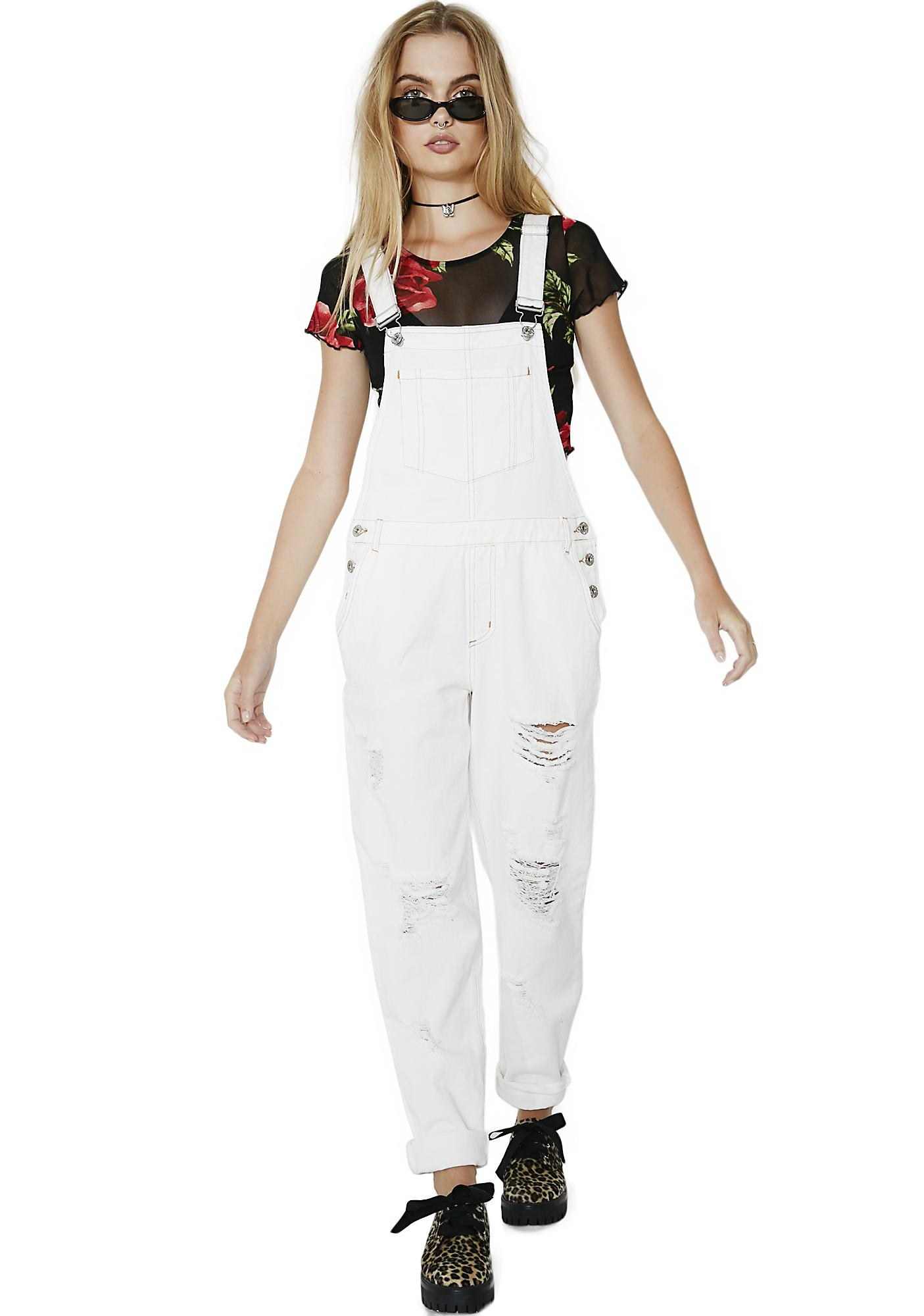 Purely Slow Your Roll Distressed Overalls