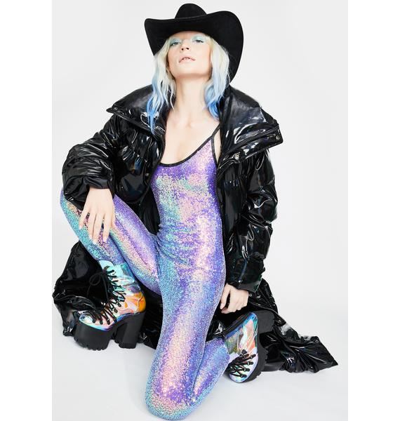 J Valentine Purple Reign Sequin Catsuit