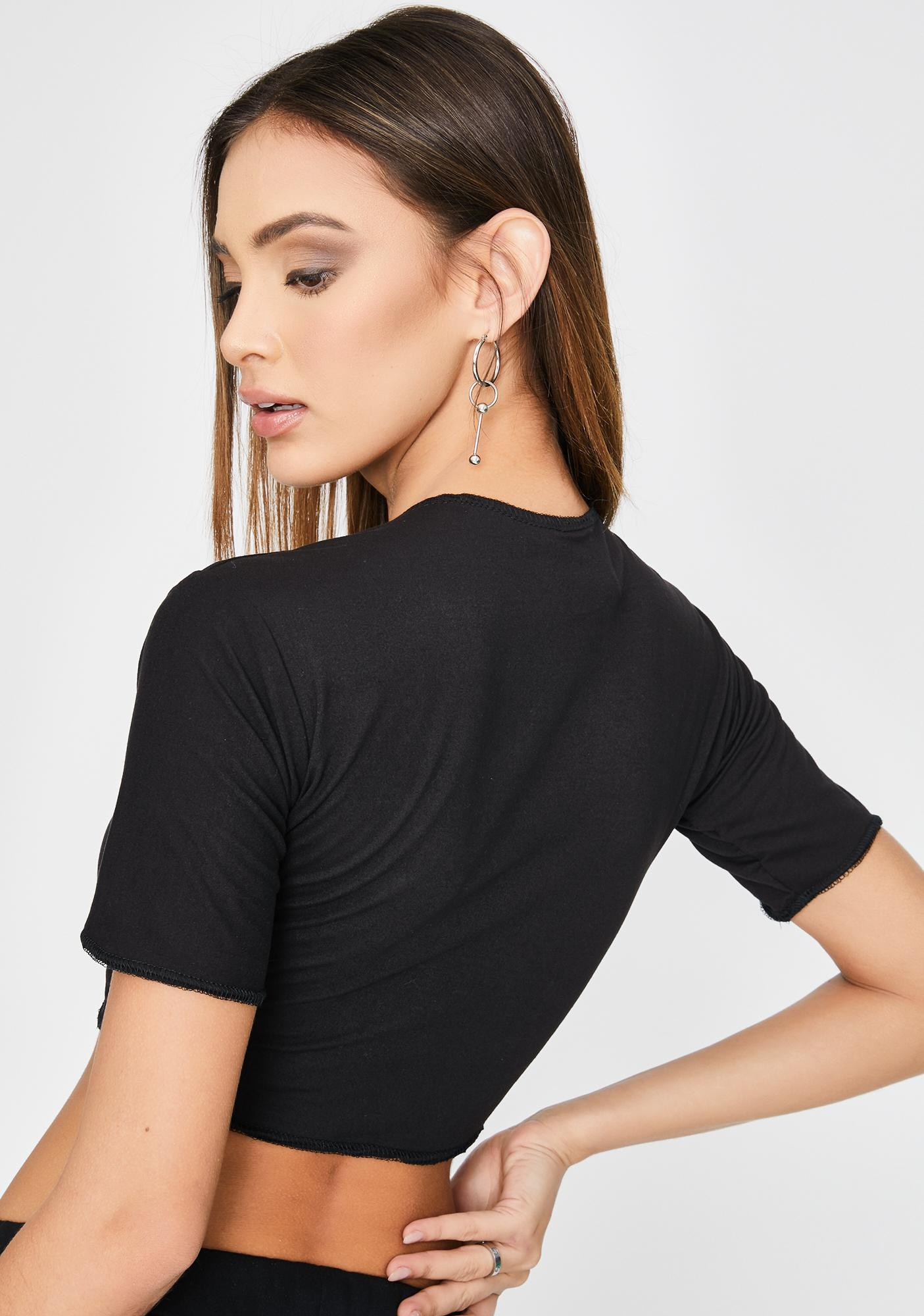 Riccetti Clothing Random Cord Crop Top