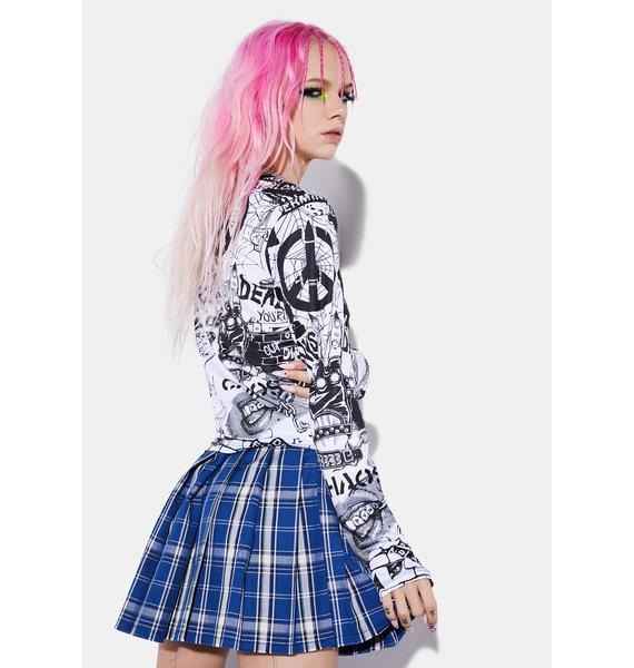 Current Mood New Rebellion Long Sleeve Top