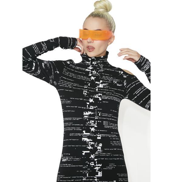 Cyberdog Glitch Dress