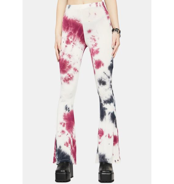 Not In The Mood Tie Dye Flares