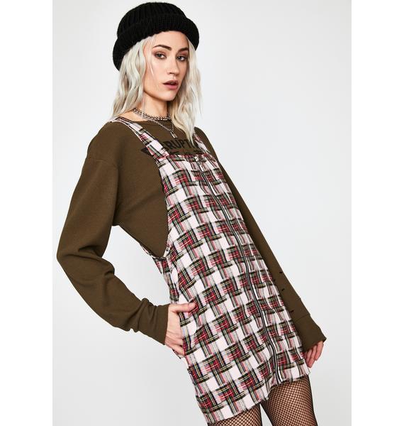 Want You Around Plaid Dress