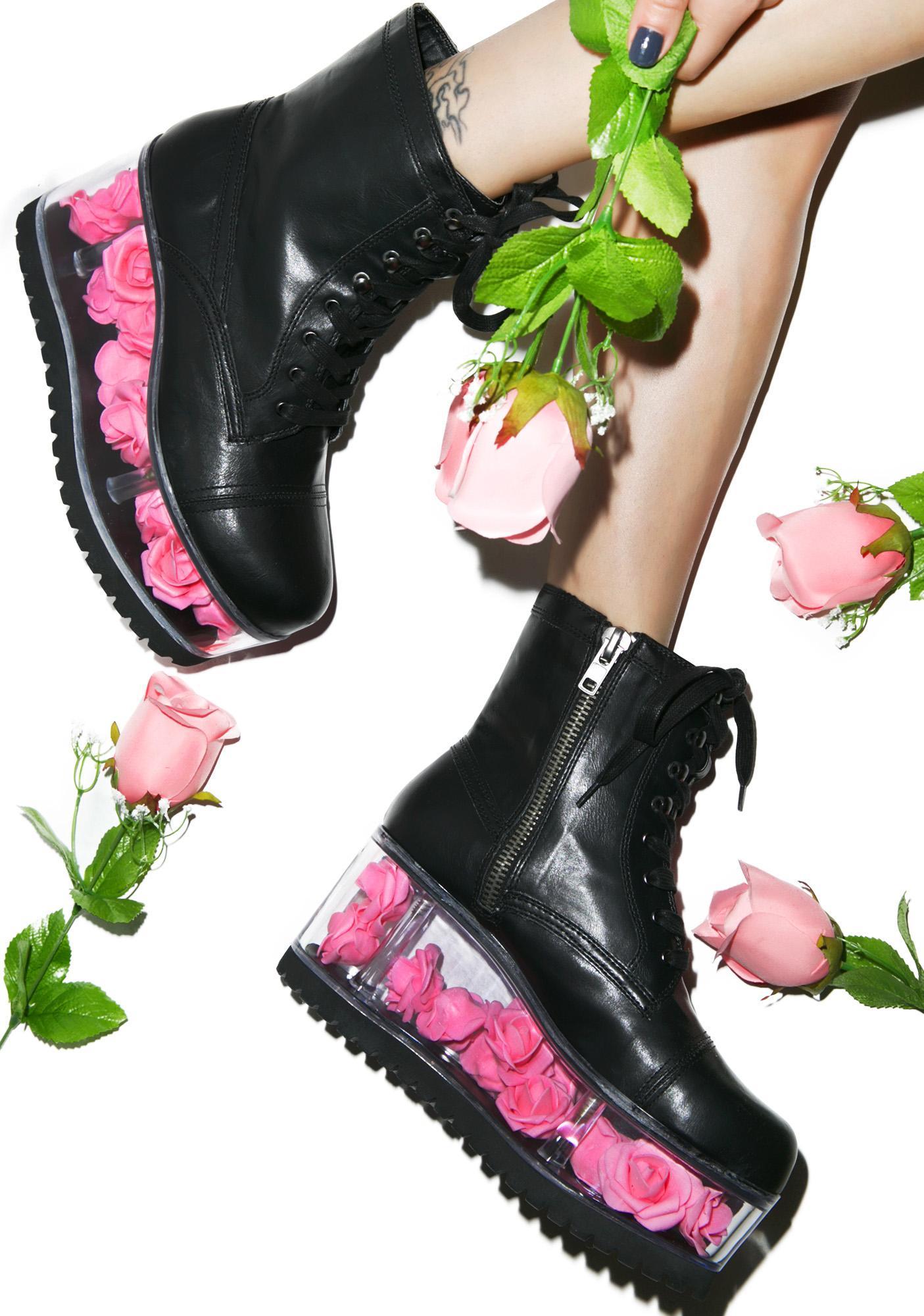 Y.R.U. G.I. Rose Platform Boots