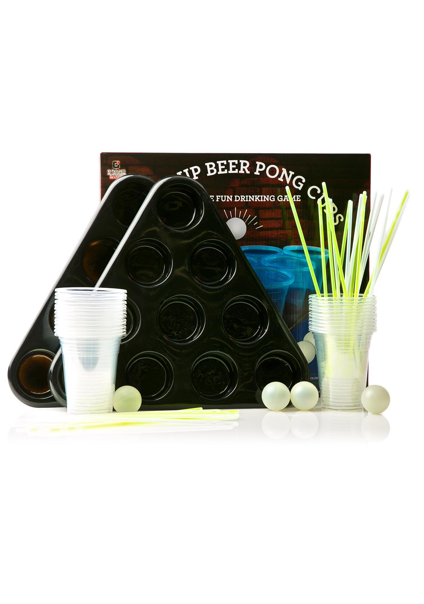 Glowing Beer Pong Set