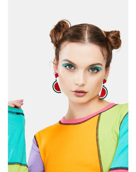 Juicy Drama Watermelon Earrings