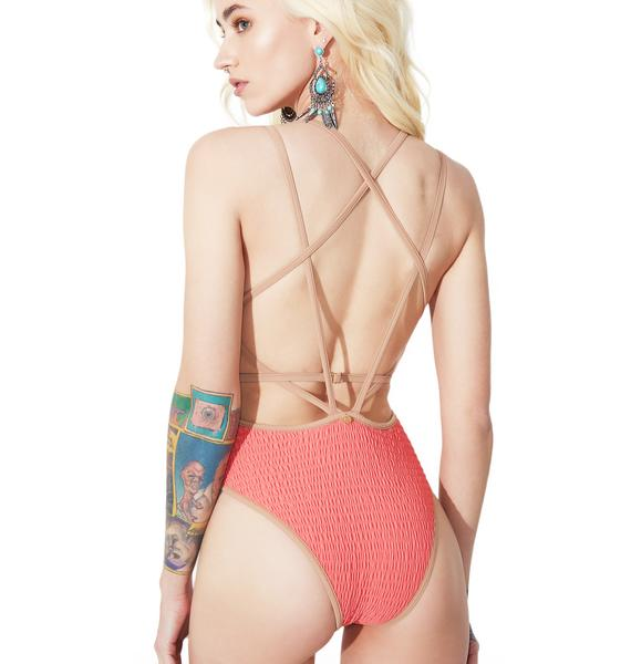 For Love & Lemons Capri Scrunchy One Piece