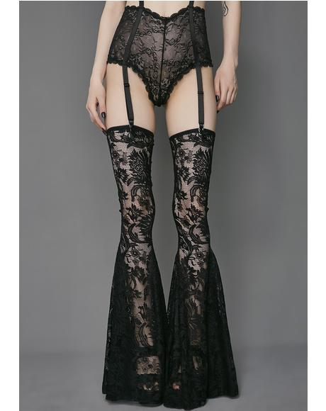 Love Lost Lace Thigh Highs