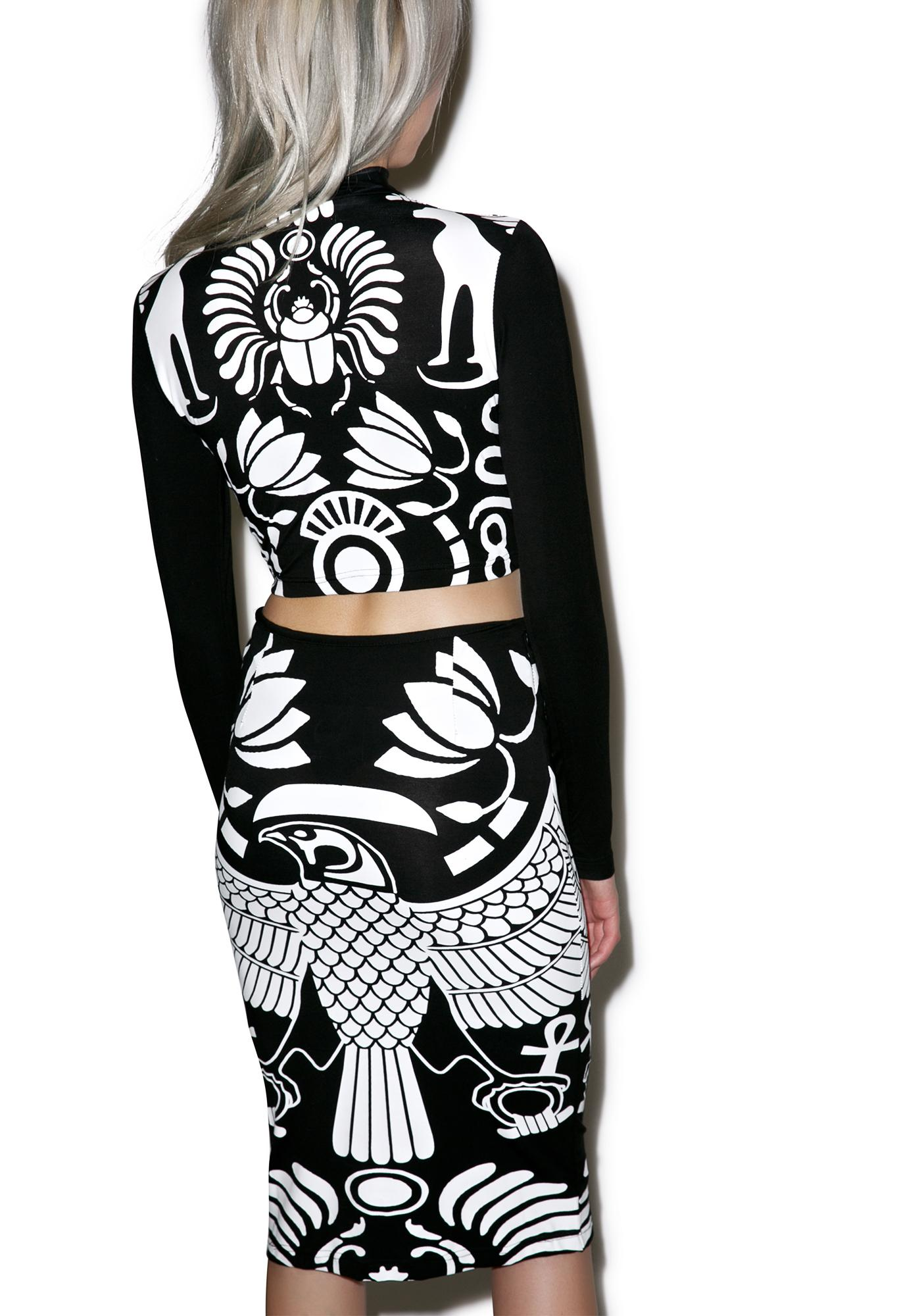 Killstar Vulture Bodycon Set
