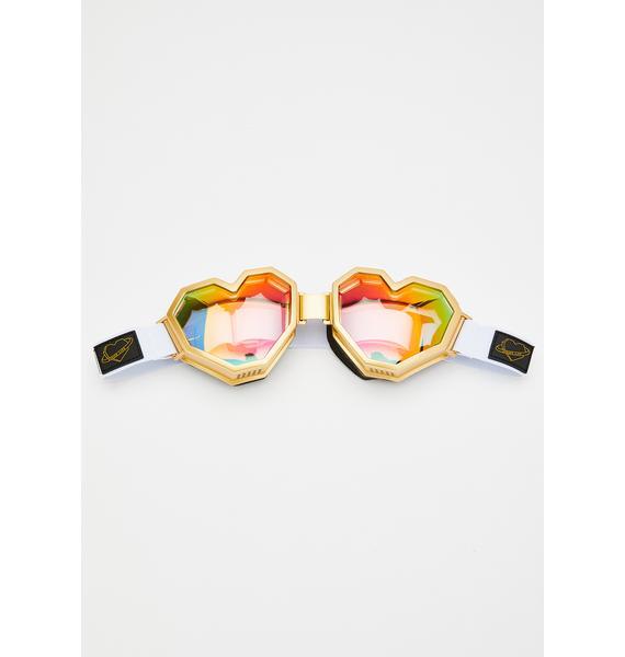 ESQAPE Gold Heart Goggles