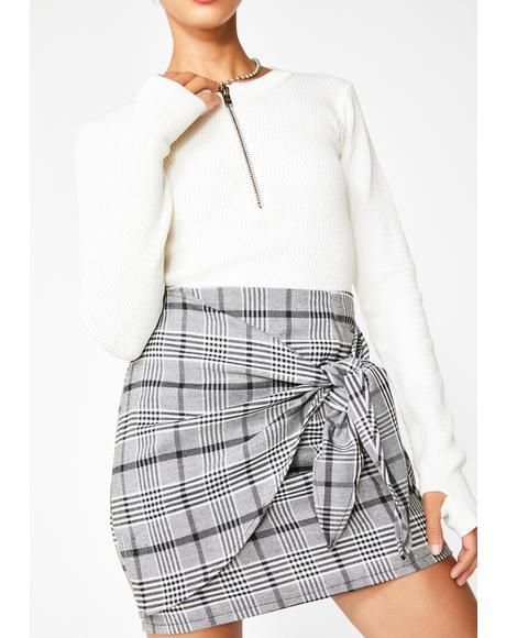 High Grade Bae Plaid Skirt