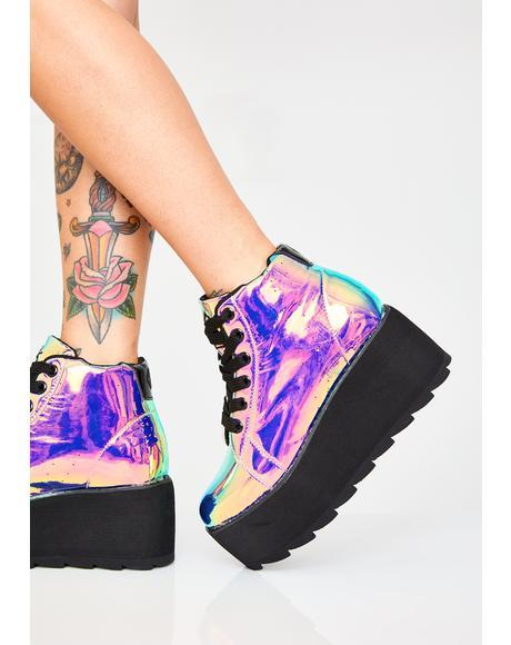 Dark Lala Hi Atlantis Platform Sneakers