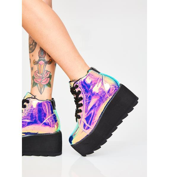 Y.R.U. Dark Lala Hi Atlantis Platform Sneakers