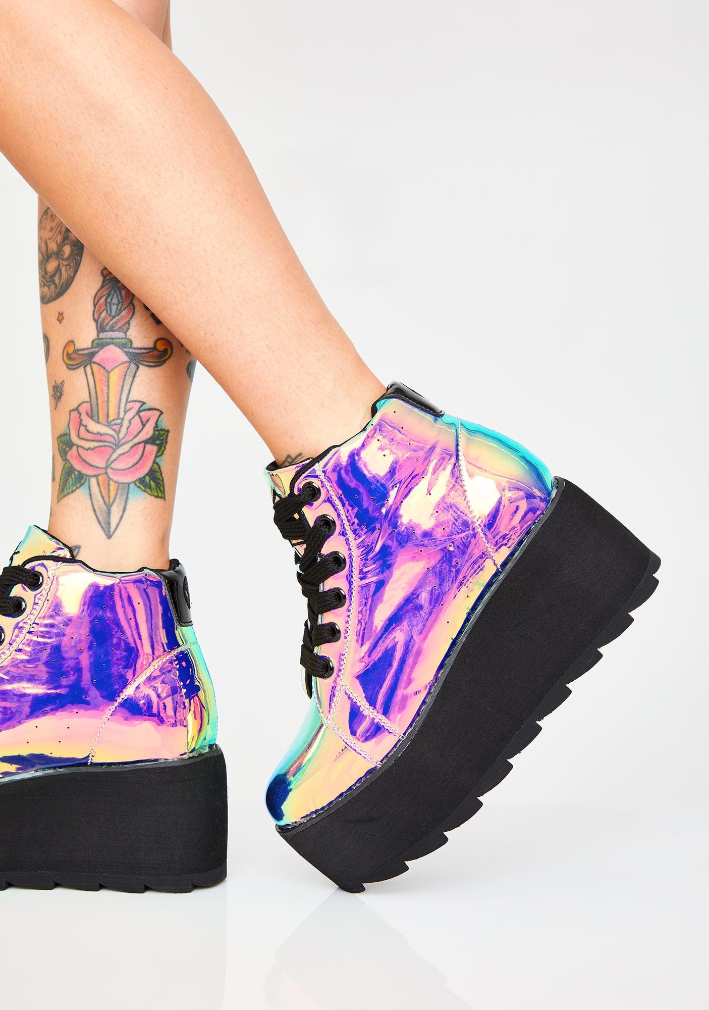 the latest e8b0e da27c Y.R.U. Dark Lala Hi Atlantis Platform Sneakers