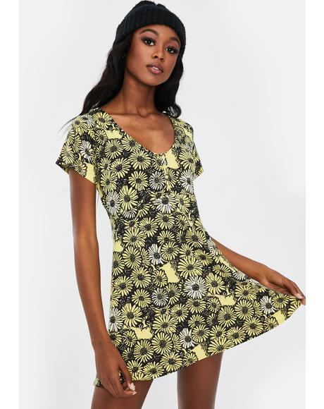 Pedal Floral Mini Dress