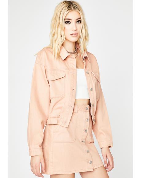 Blush All Day Long Denim Jacket