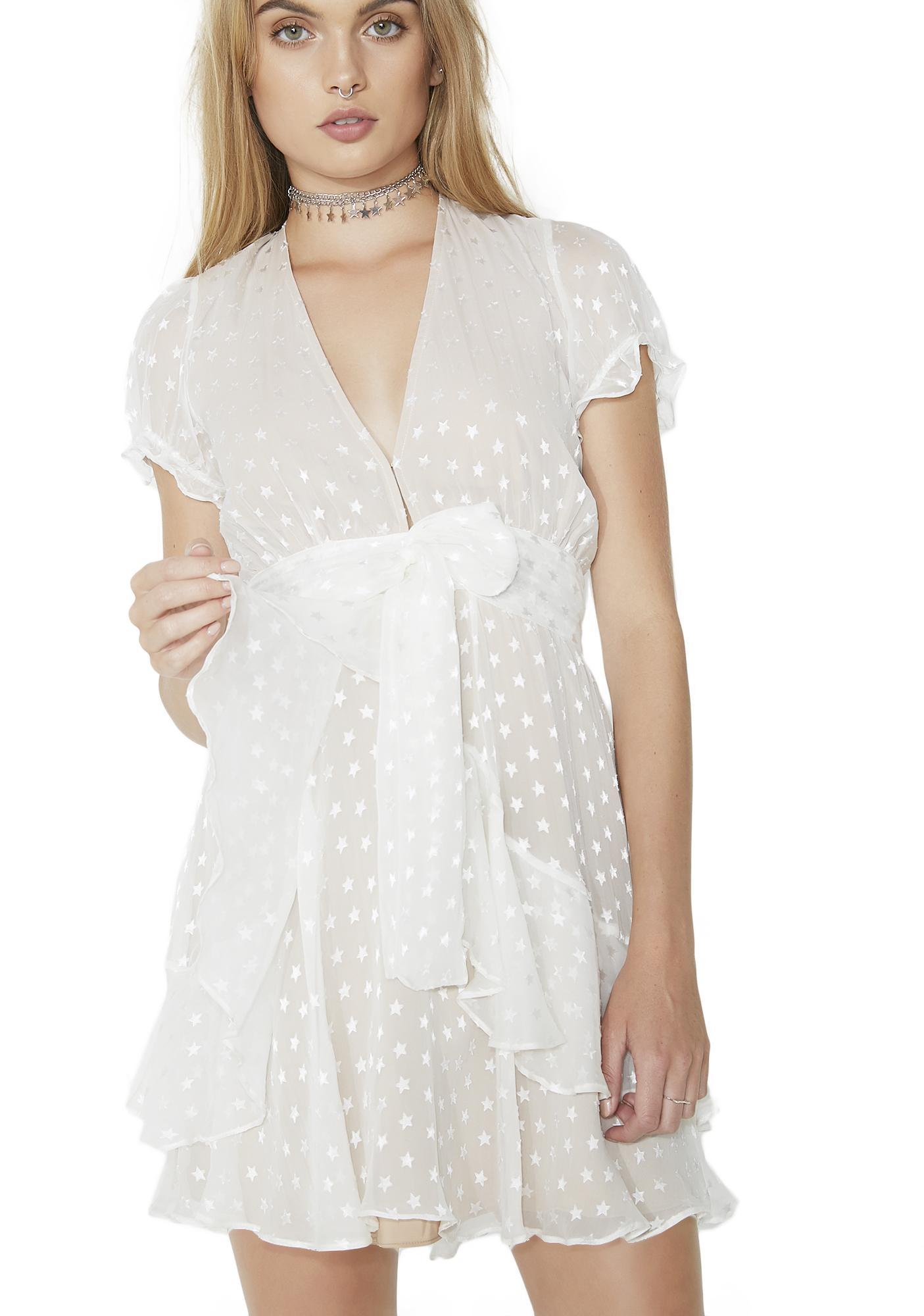 For Love & Lemons Tarta Cap Sleeve Dress
