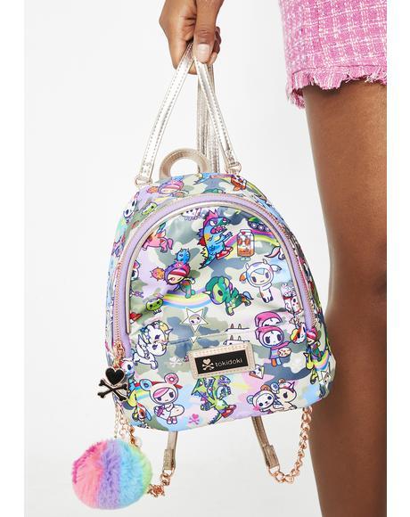Camo Kawaii Small Backpack