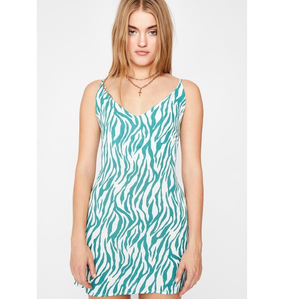 Fruity Stripes Zebra Mini Dress
