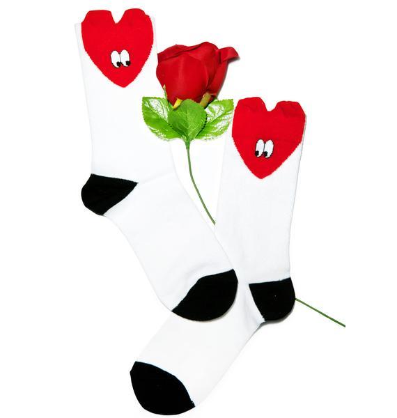 Lazy Oaf Heart Socks