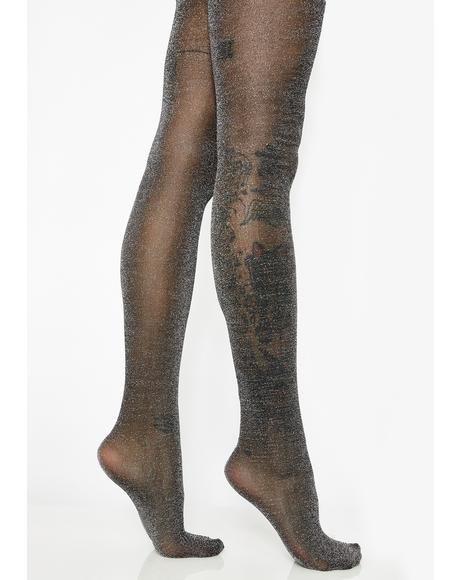 Steel Glittering Flash Tights