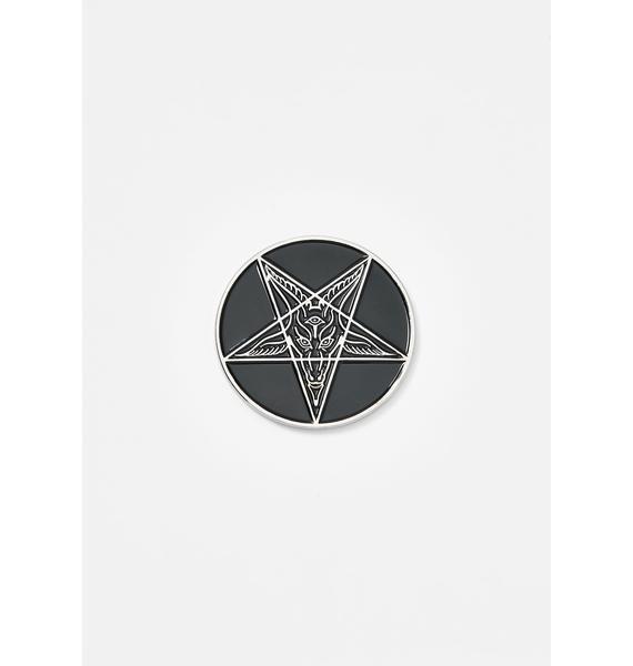 Kreepsville 666 Goathead Baphomet Enamel Pin