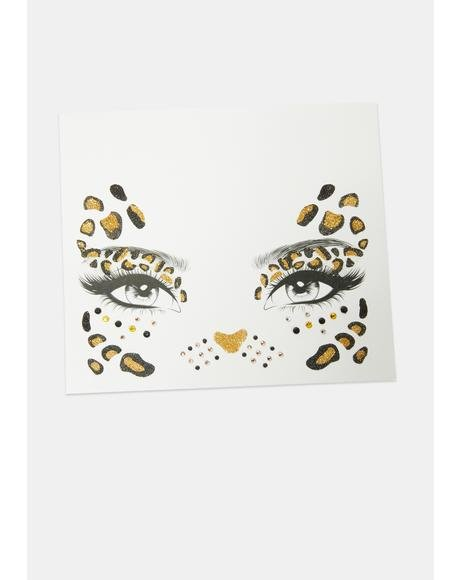 Leopard Face Stickers