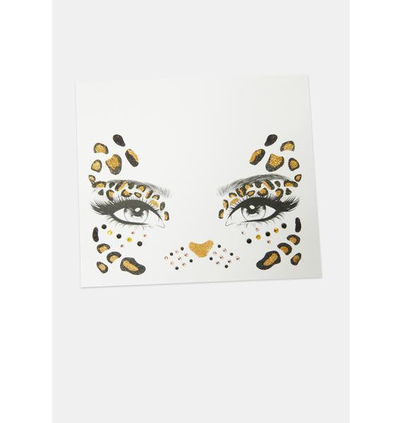 Leopard Face Stickers