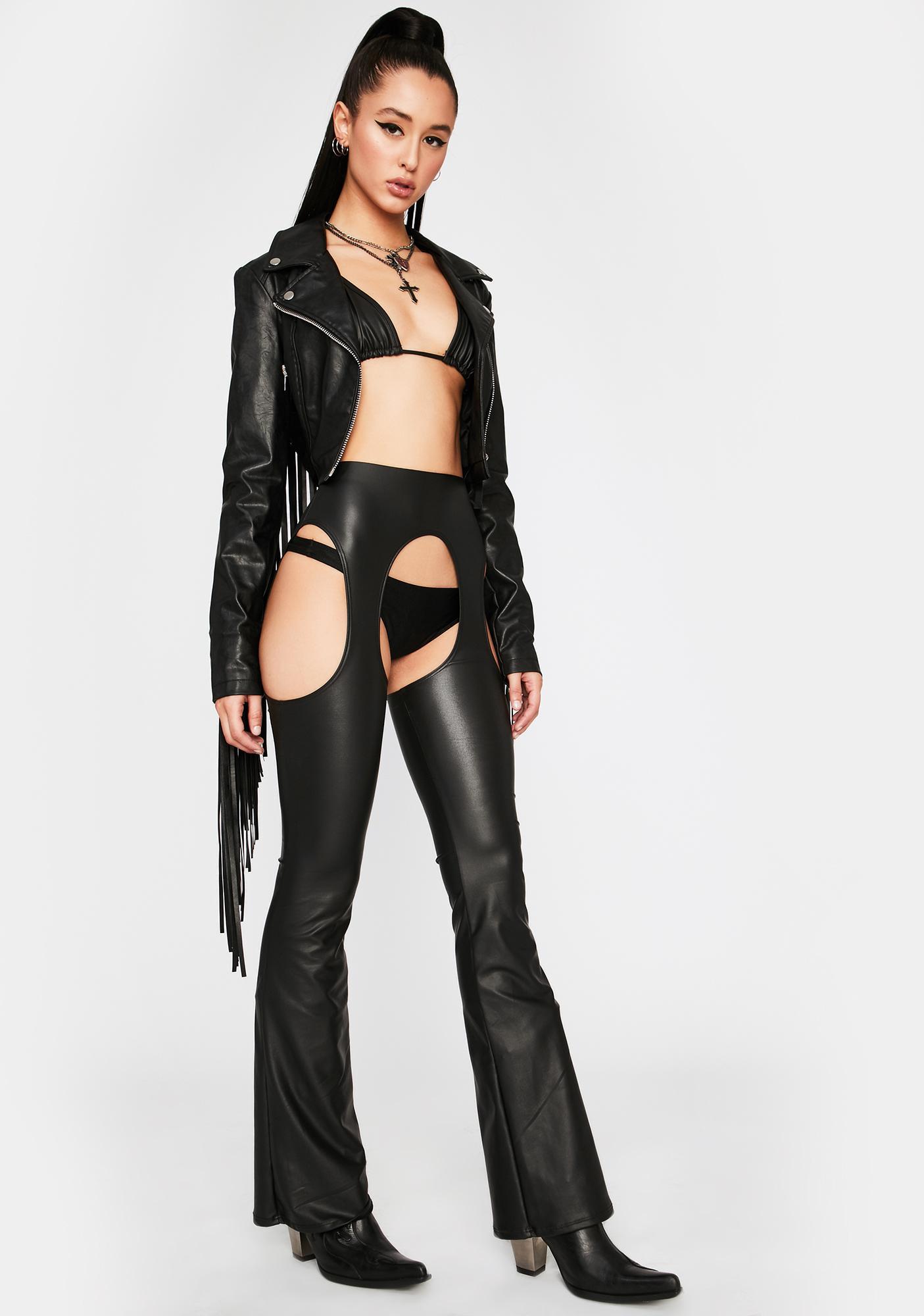 Dark Electric Awakening Faux Leather Set