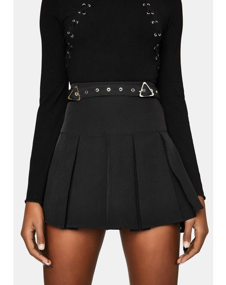 The Craft Pleated Mini Skirt