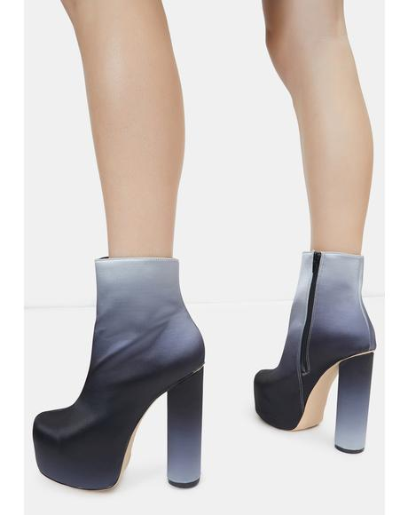 Black Hafida Platform Boots