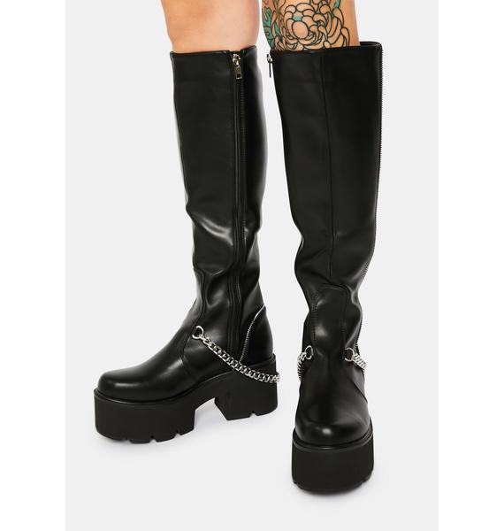 Lamoda Got Me In Stitches Knee High Boots