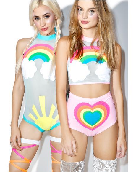 Neon Rainbow Baby Set