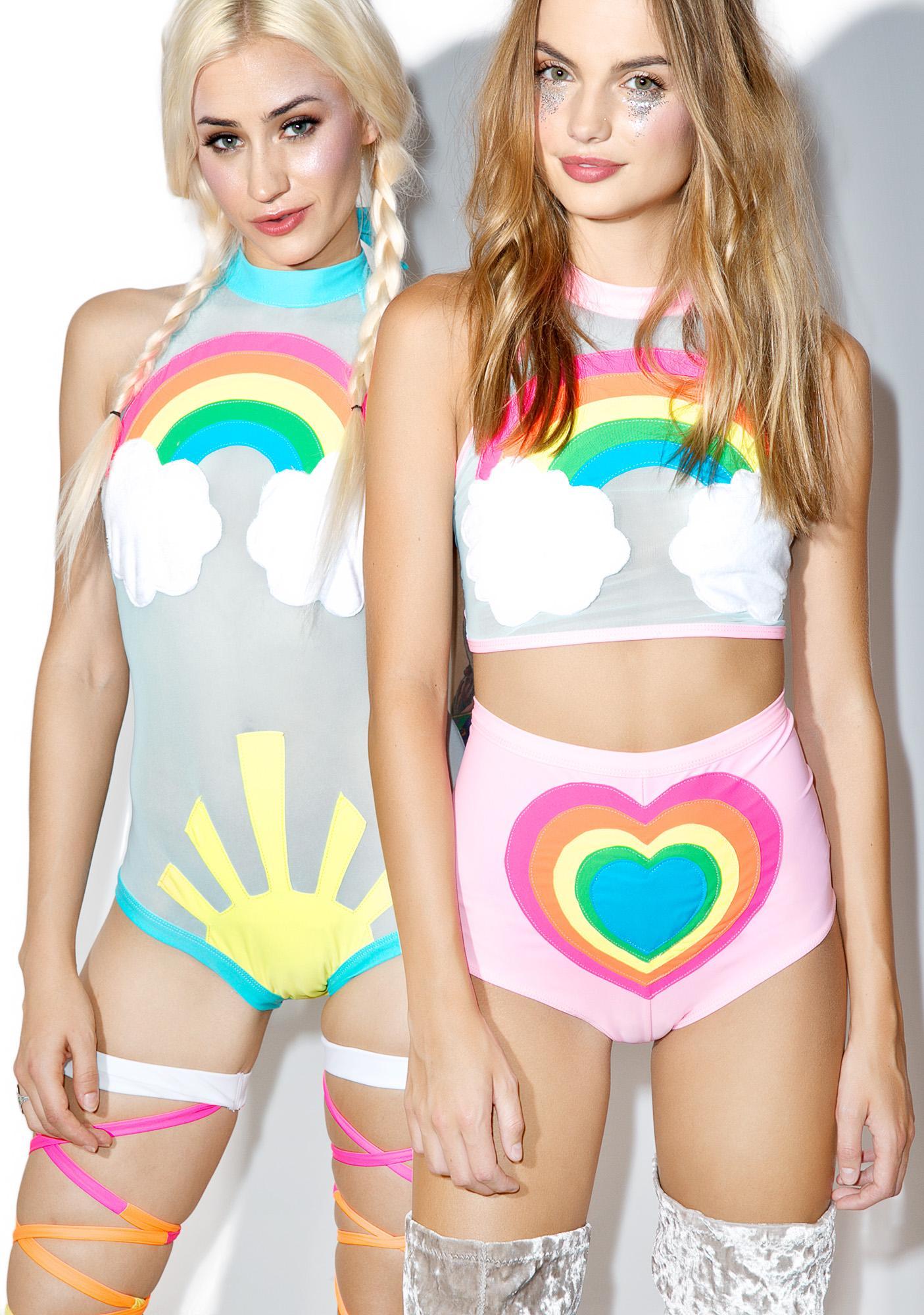 J Valentine Neon Rainbow Baby Set